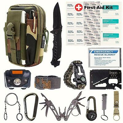 New! Fathers Survival Emergency Kit Gear Outdoor hiking Camping Fishing travel