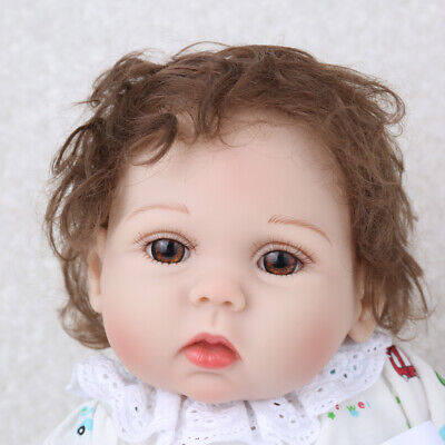 """16"""" Reborn Baby Doll Full Body Silicone Anatomically Handmade Gifts Doll+Clothes"""