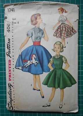 Vintage Maudella sewing pattern 5635 dress with collar options  NEW UNCUT 1960s