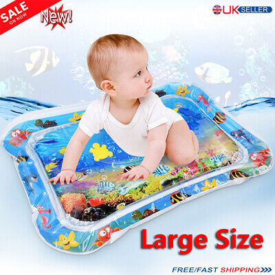 Inflatable Water Play Mat Infant Baby Toddler Kid Perfect Fun Tummy Time Playing