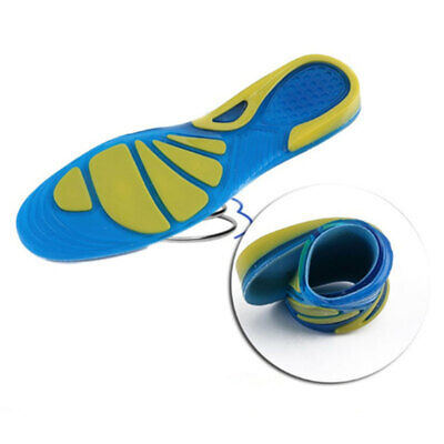 Silicon Gel Insoles Foot Care Pads for Plantar Fasciitis Heel Spur Running HWN