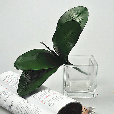 Artificial Green Rose Leaves/Butterfly Orchid Silk Leaf Beauty Plant Decor Kr
