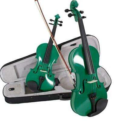 4/4 Size Practic Students Acoustic Violin Set Fiddle with Case Bow Rosin Green