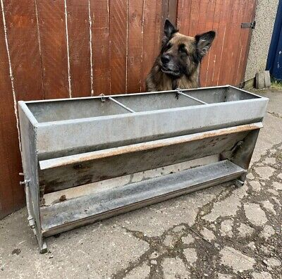 🌻 Vintage Antique Galvanised Trough Garden Planter Plant Pot Industrial 🌻