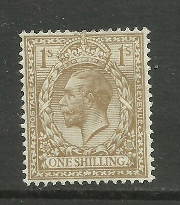 1912-22 Royal Cypher Sg 395 1/- Bistre Average Mounted Mint 50% gum. TT1449-200