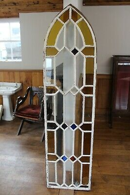 Crittall Metal Reclaimed Harlequin Stained Glass Ecclesiastical Windows (clergy)