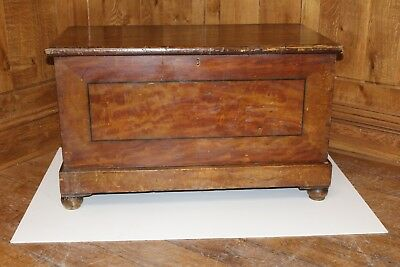 19th Century Stained Pine Box (C132)