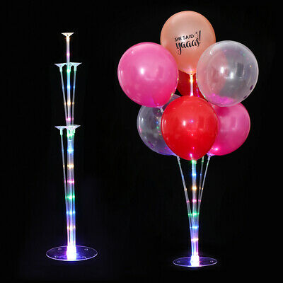 1Set LED Balloons Column Stand With 7 Tubes Wedding Party Balloon Support Rack