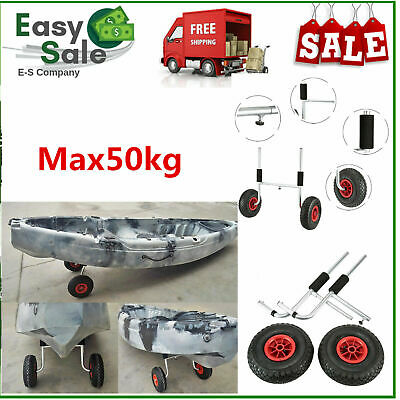 Kayak Canoe Boat Carrier Dolly Trailer Tote Trolley Transport Cart Wheel LA R4G3