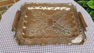 """ARTS CRAFTS TRAY COPPER. TRAY 17.5"""" x 13""""   WEIGHT 1. Kg"""