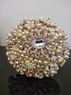 Ready Made Pearl and Brooch Wedding Bouquet