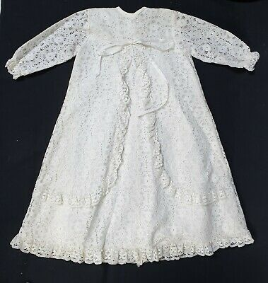 Kinswear Babies Vintage Lace Lined Baptism, Christening Gown 0-3 Months