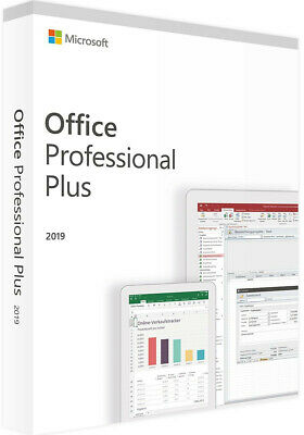 MS Office Professional Plus 2019 (Word, Excel, Outlook, Access, Powerpoint etc.)