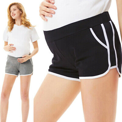 Shorts Low-rise Womens Maternity Pregnant Elastic Cotton Stretch Comfy Summer