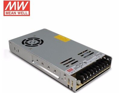 MeanWell LRS-350-12 350W Enclosed Low Profile Single Output 12VDC Power Supply.