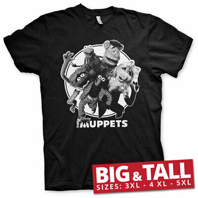 Officially Licensed The Muppets Big & Tall 3XL, 4XL, 5XL Men's T-Shirt