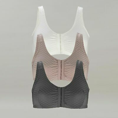 12 14 16 18 20 B-DD | Front Hook Opening Bra with Lined Cotton Cup BNWT