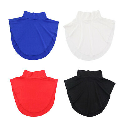 4x Women Solid Modal Faux Turtleneck Half Top Dickey Collar Hijab Neck Cover