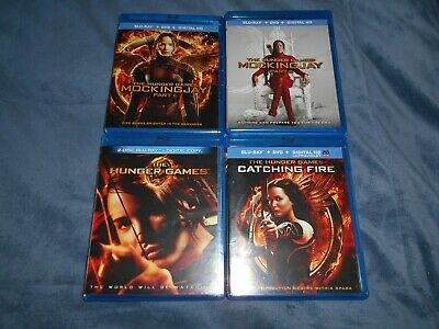 The Hunger Games Complete 4 Film Movie Collection Blu-Ray Lot