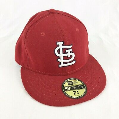 new style 776f1 efebd New Era 59FIFTY St. Louis Cardinals MLB Fitted Baseball Cap Hat Size 7 1