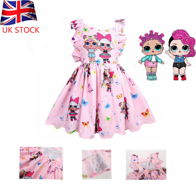 LOL Surprise Doll Princess Dress Cute Girls Party Birthday Holiday Dress Gift UK