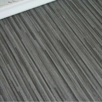 Grey Stripe 3mm Thick Vinyl Flooring 2m, 3m and 4m Wide From £9.99Sqm