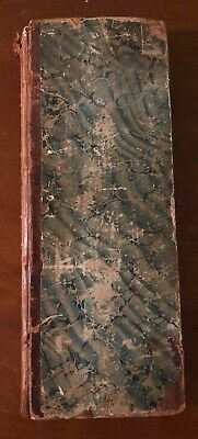 1840s vintage antique farmhouse shabby chic ledger newspapers marbled covers