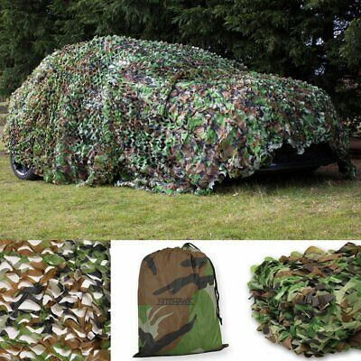 Woodland Camouflage Netting Military Camo Net Hunting w/ String Backing 13x10ft