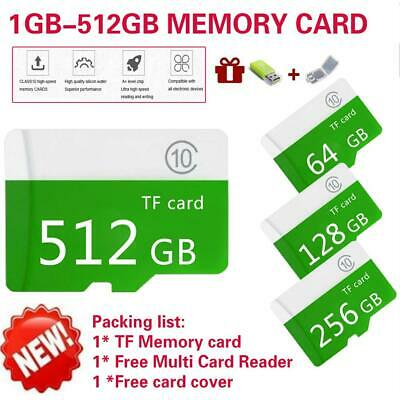 Real Micro 128GB SD Memory Card Flash TF Large-Capacity Class 10 For Mobile PC