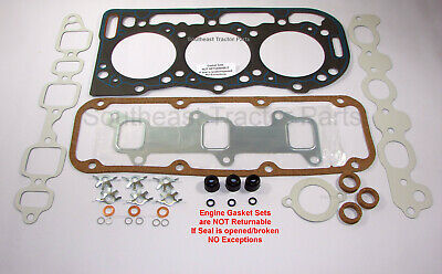 D8NN6051AA Ford 3 Cylinder 4000 3930 4600 Top Gasket Set with Seals