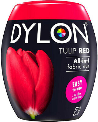 DYLON Washing Machine Dye Pod Tulip Red 350G Permanent Dyes-up Fabric Powder