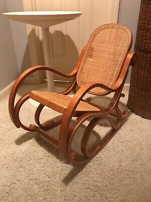VINTAGE  CHILD'S or Doll  BENTWOOD/CANE ROCKING CHAIR- MID CENTURY Thonet Era