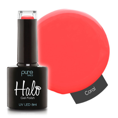 Pure Nails LED/UV Halo Gel Polish Collection - Coral 8ml