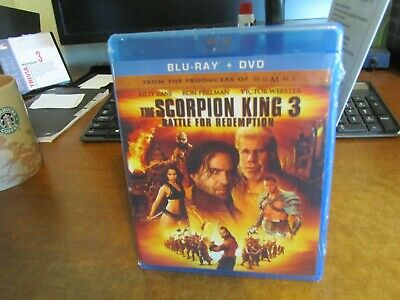 The Scorpion King 3: Battle for Redemption (Blu-ray/DVD, 2012, 2-Disc Set,...