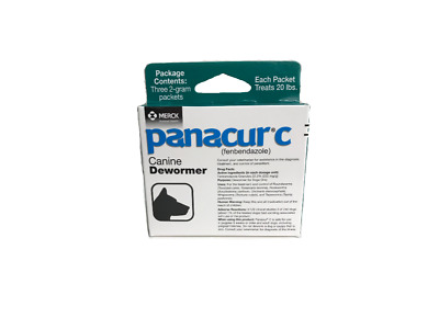 Panacur C Canine De-Wormer 2gm packets (3 Packets)