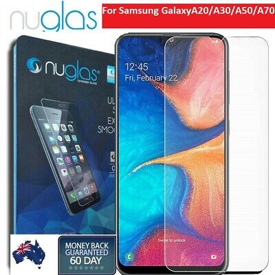 2x Nuglas Tempered Glass LCD Screen Protector For Samsung Galaxy A20 A30 A50 A70