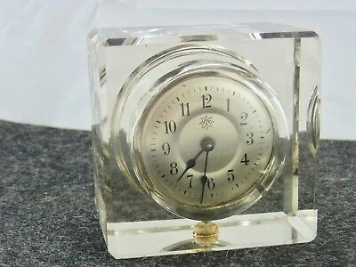 Beautiful Old Clock Junghans Approx. 30 Years Glass Cube