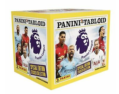 Panini Tabloid Sticker Collection 10, 20, 30, 40, 50 Packs