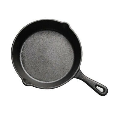 Cast Iron Kitchen Cooking Skillet Griddle Frying Pan Egg Mold Cookware 20cm