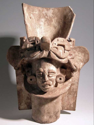 "Large and Important Precolumbian Zapotec Urn with Mayan influence 14"" tall!"