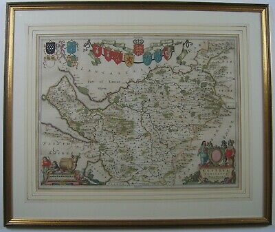 Cheshire: antique map by Johan Blaeu, 1645 (1662 edition)