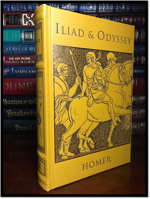 The Iliad and Odyssey by Homer New Deluxe Leather Bound Collectible Gift Edition