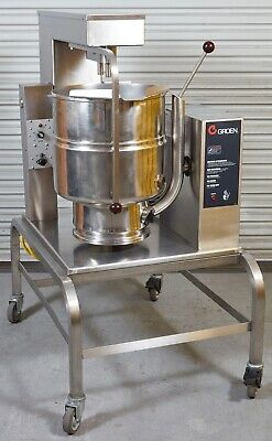 2015 Production Groen TDB-40A TA/2 Electric 10 Gallon Kettle w/ Mixer & Stand