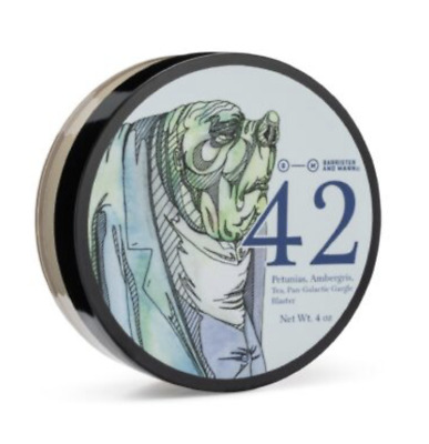 Barrister and Mann 42 Shaving Soap (Limited Edition) (Glissant Base), New