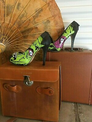 b958cbd65a Iron Fist Zombie Monster Goth Punk Rock Green High Heel Platform Shoes size  8