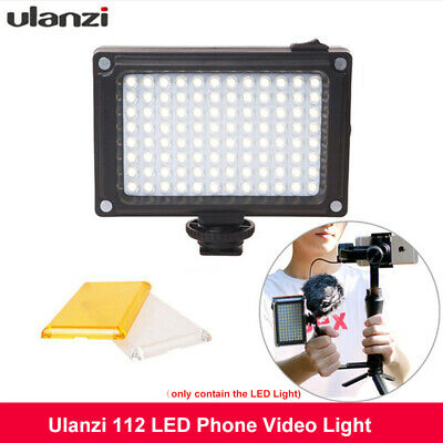 Ulanzi 112 LED Video Light Photographic Streaming Lighting For Phone DSLR Camera