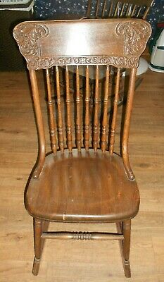 VINTAGE  Antique OAK ROCKING CHAIR