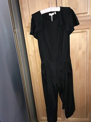NWT Ted Baker Black Reversible Jersey Jumpsuit $195 Ted 2 US 6