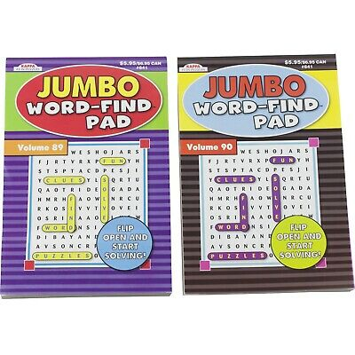 KAPPA JUMBO WORD Find Search Pad Volumes 89 90 - 87 Puzzles per Booklet