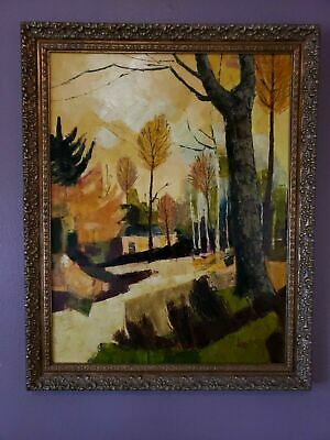 Signed ORIGINAL Jacques Dolle Oil painting Autumn Fall Leaves CONTEMPORARY